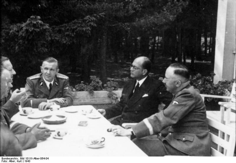 Subhas Chandra Bose with Heinrich Himmler. 1943. Photo Courtesy of Bundesarchiv.
