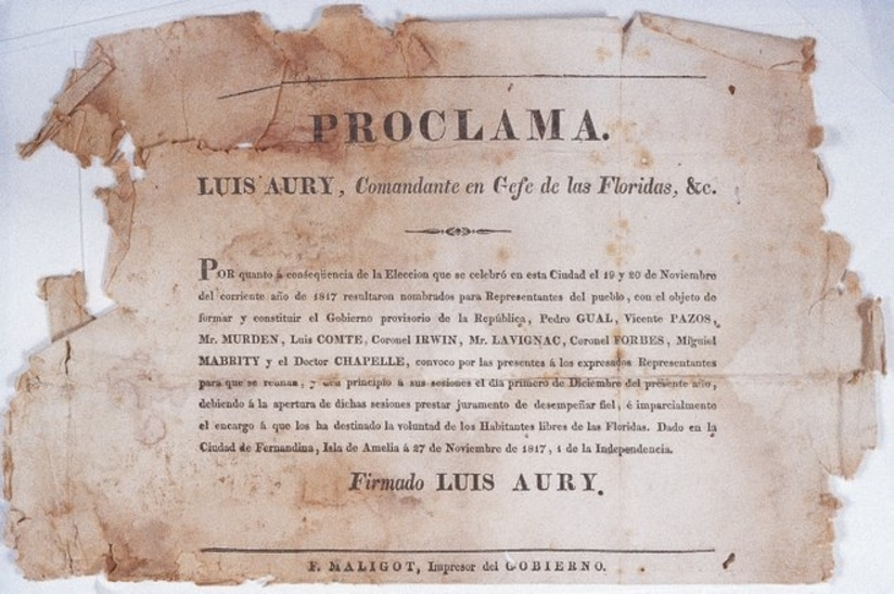 Election Results in the Republic of the Floridas. 1817. Wikimedia Commons.