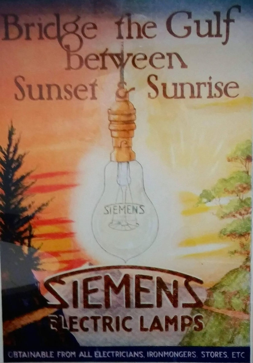Siemens Poster from the 1920s: a Fitting Allegory for Siemens's Aims in Harbin and Vladivostok. Wikimedia Commons.